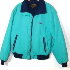 Vintage Eddie Bauer green ski coat zip up 90s